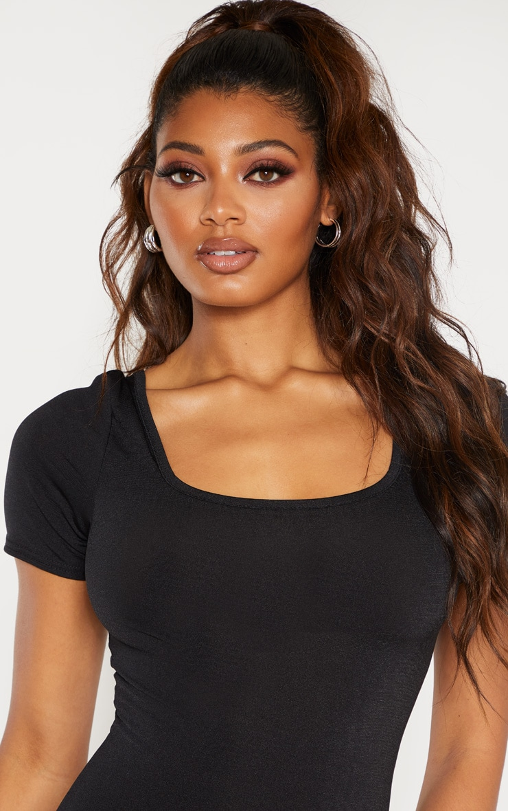 Tall Black Square Neck Bodysuit 5