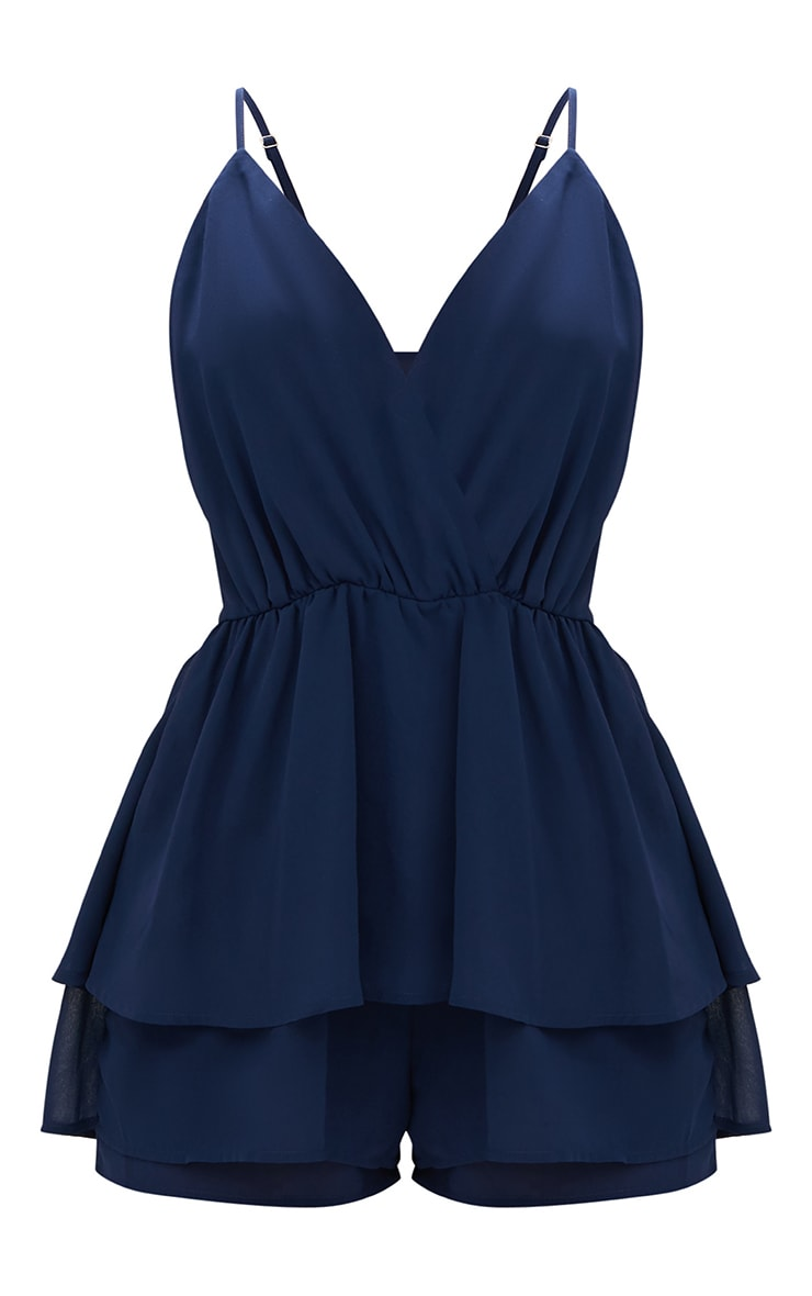 Navy Frill Layer Romper  3