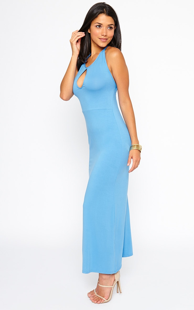 Kerry Blue Caged Back Maxi Dress 3