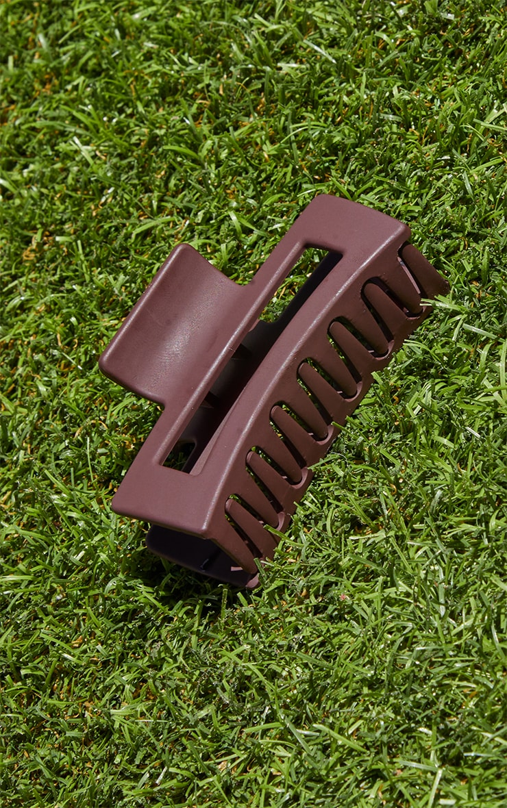 Chocolate Cut Out Square Hair Clip 3