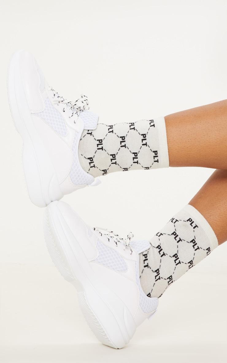 White Hiker Sneakers 2