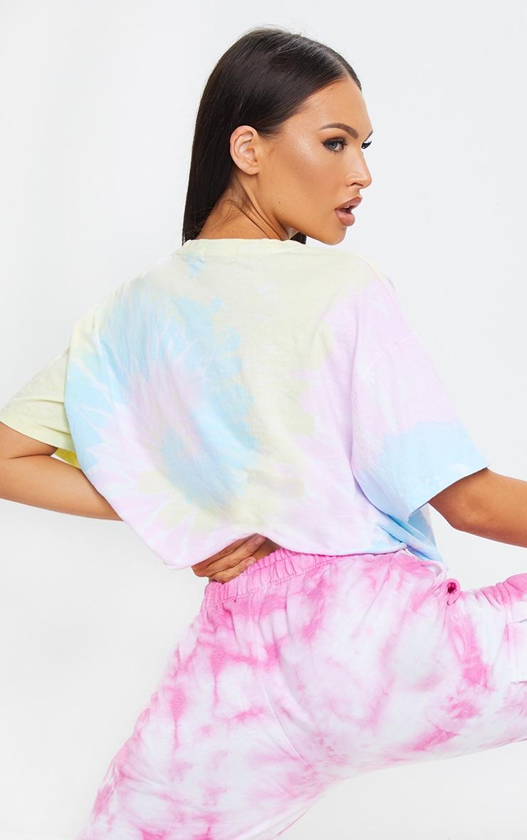 Multi Tie Dye Cropped T Shirt 2