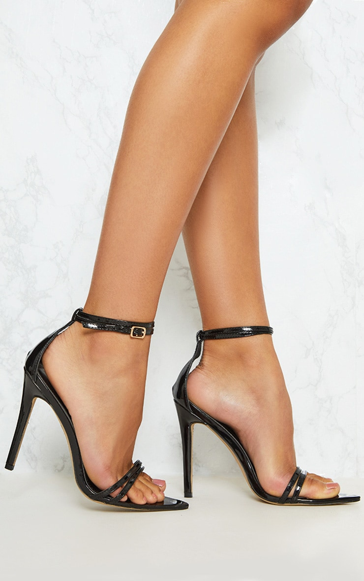 Black Point Toe Barely There Sandal 1