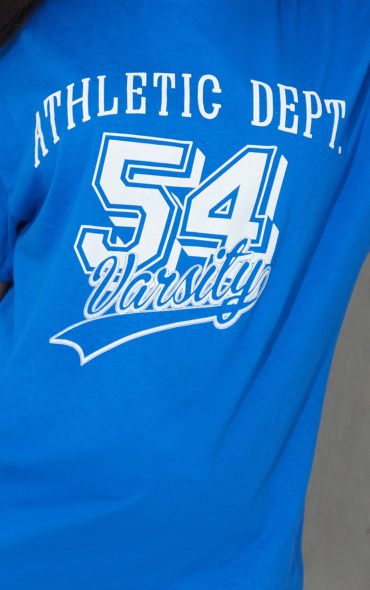 Royal Blue Athletic Department Printed T Shirt 4