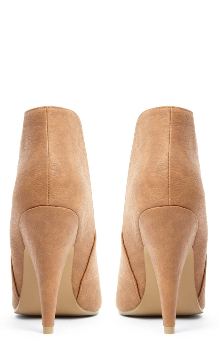 Anastasia Tan Leather Ankle Boots 4