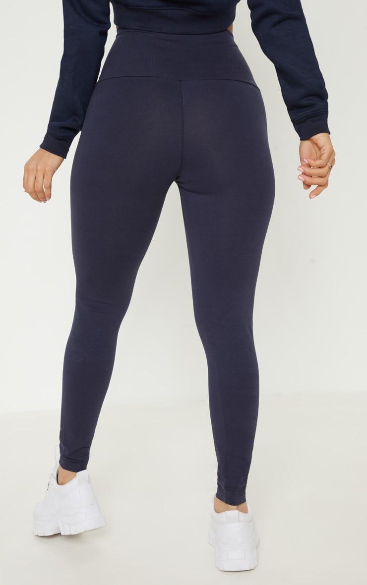 Legging bleu marine à poches zippées 4