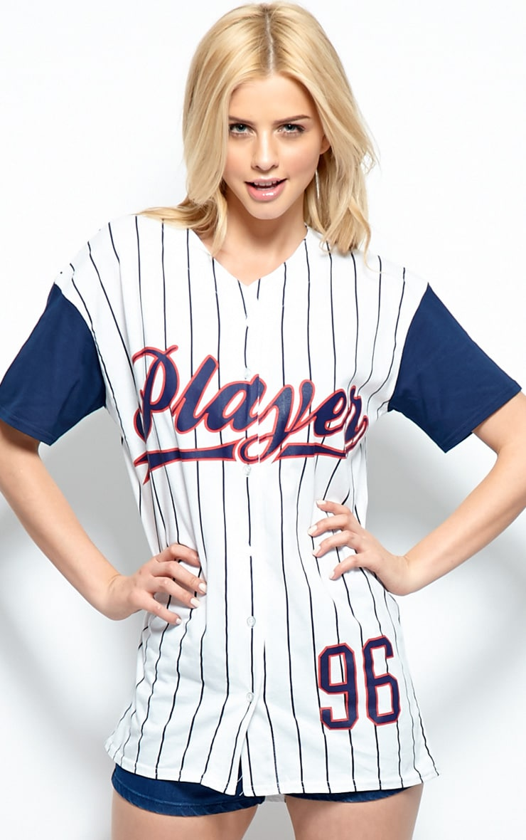 Winston Navy & White 'Player' Baseball T-Shirt 1
