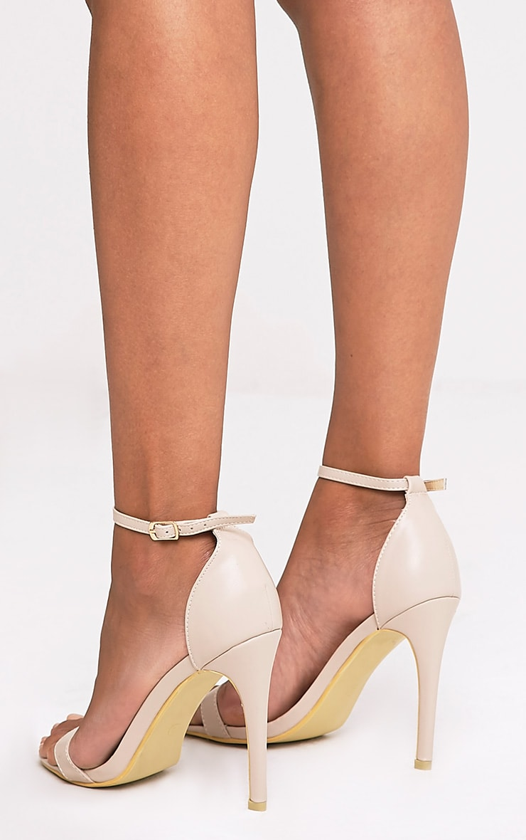 Clover Nude Strap Heeled Sandals 4