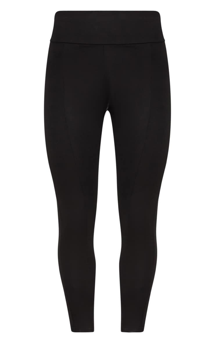 Black Second Skin High Waisted Ponte Seamed Legging 3