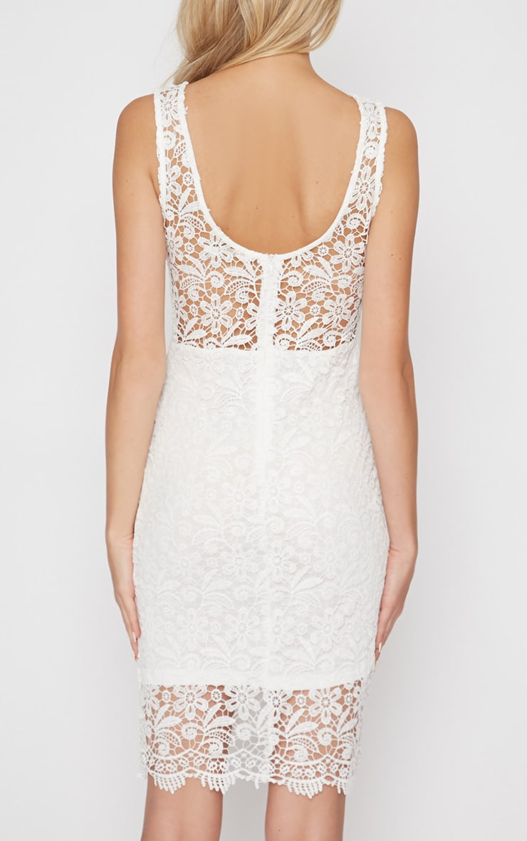 Kalea White Crochet Lace Dress 2