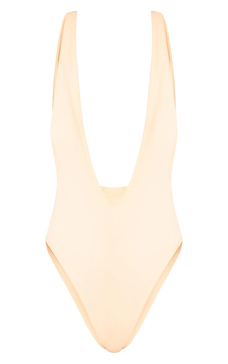 Natalia Nude Basic Plunge Swimsuit  4