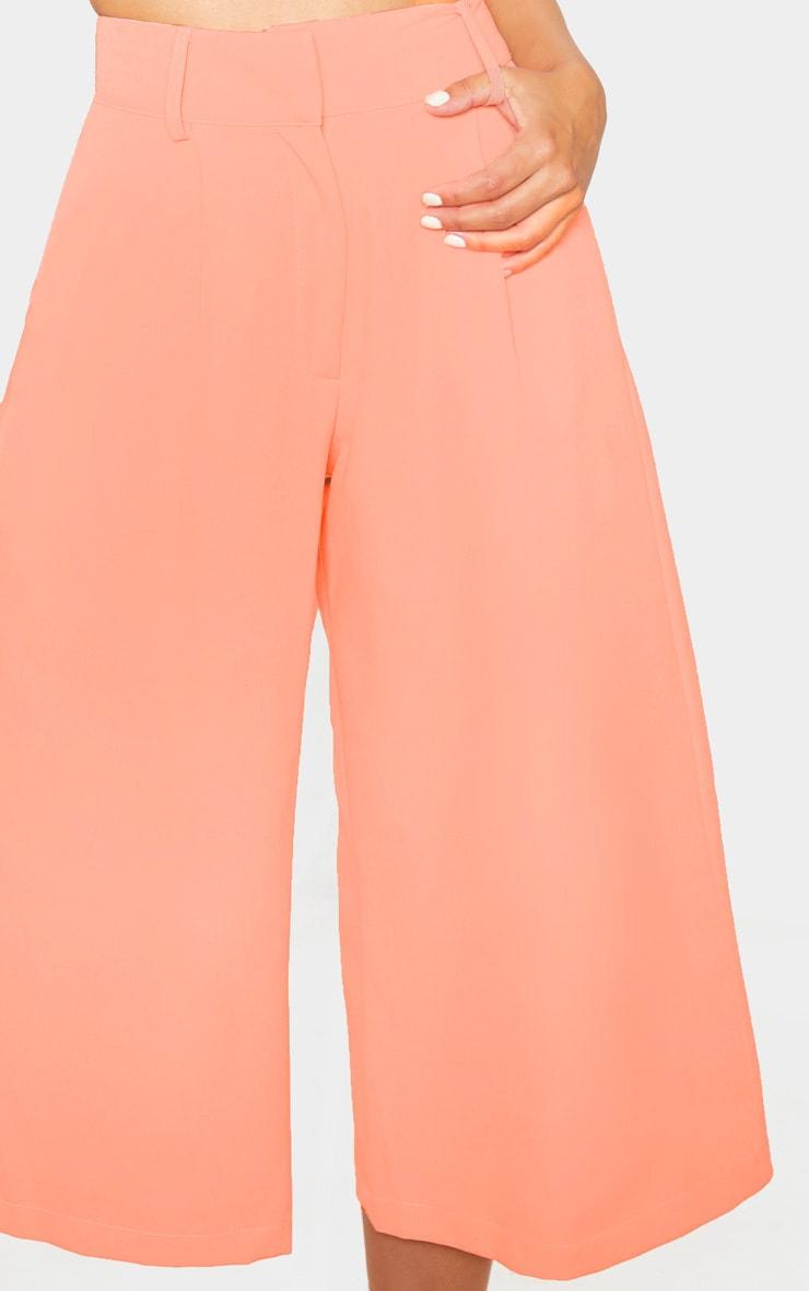 Petite Peach  High Waisted Culottes 5