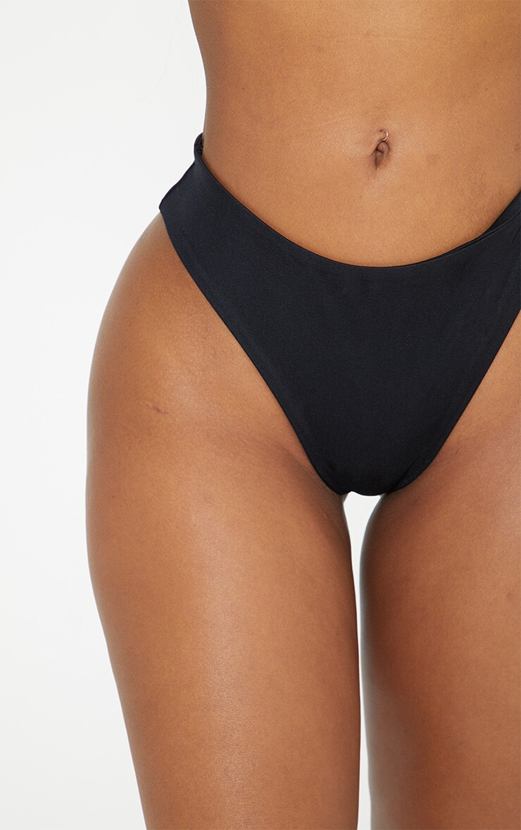 Shape - Bas de bikini échancré noir 6