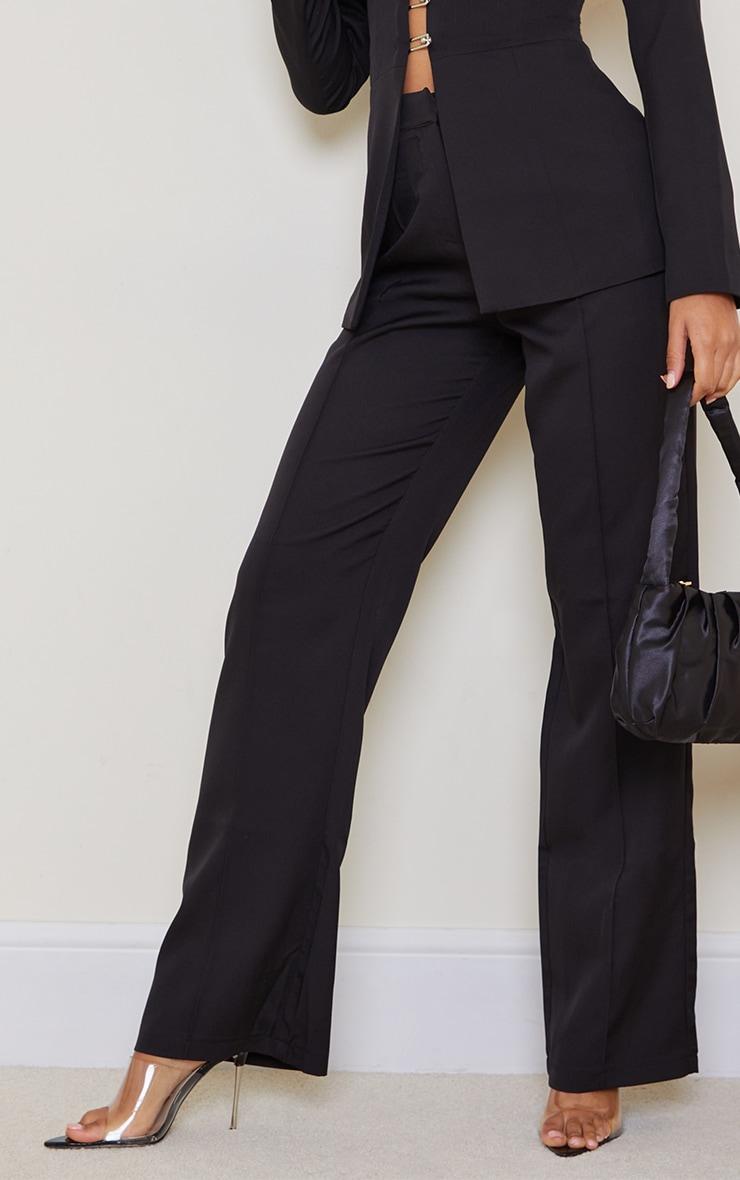 Black Wide Leg High Waist Pants 4