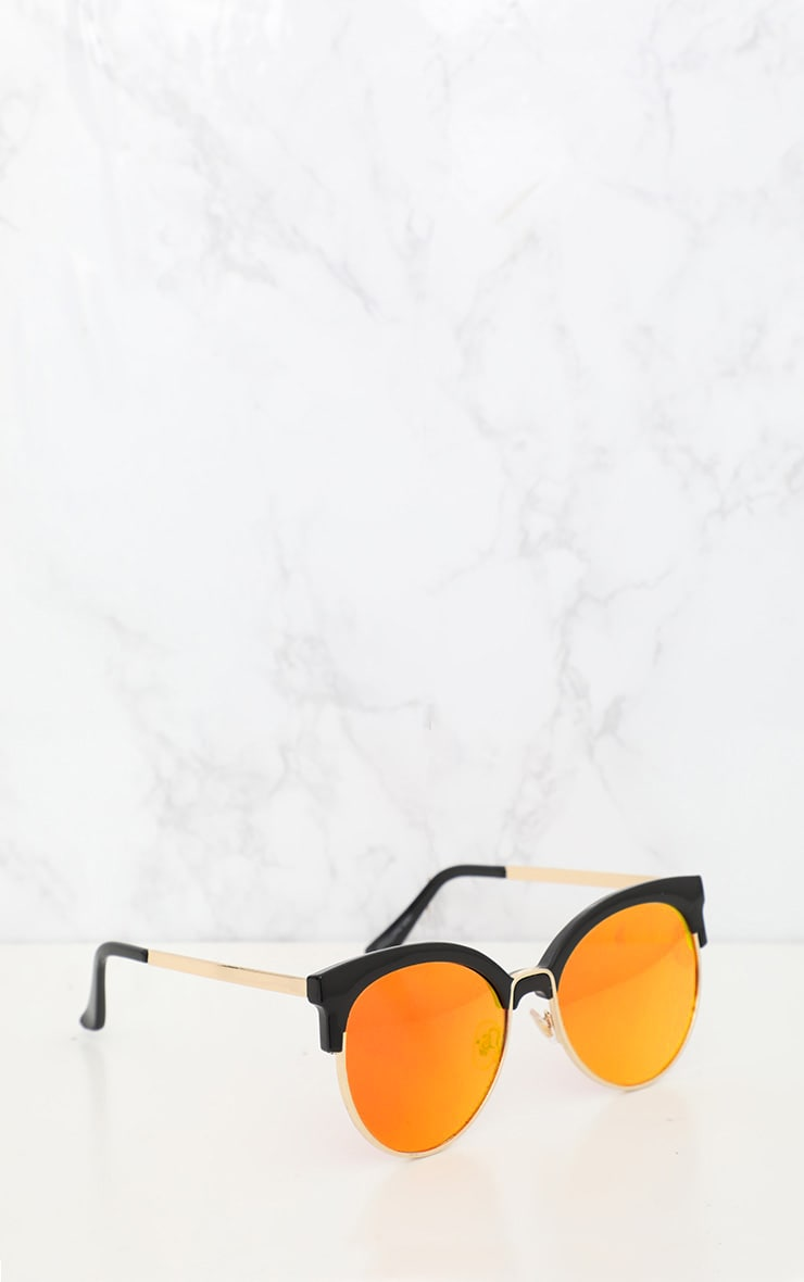 Orange Lens Mirrored Sunglasses 2