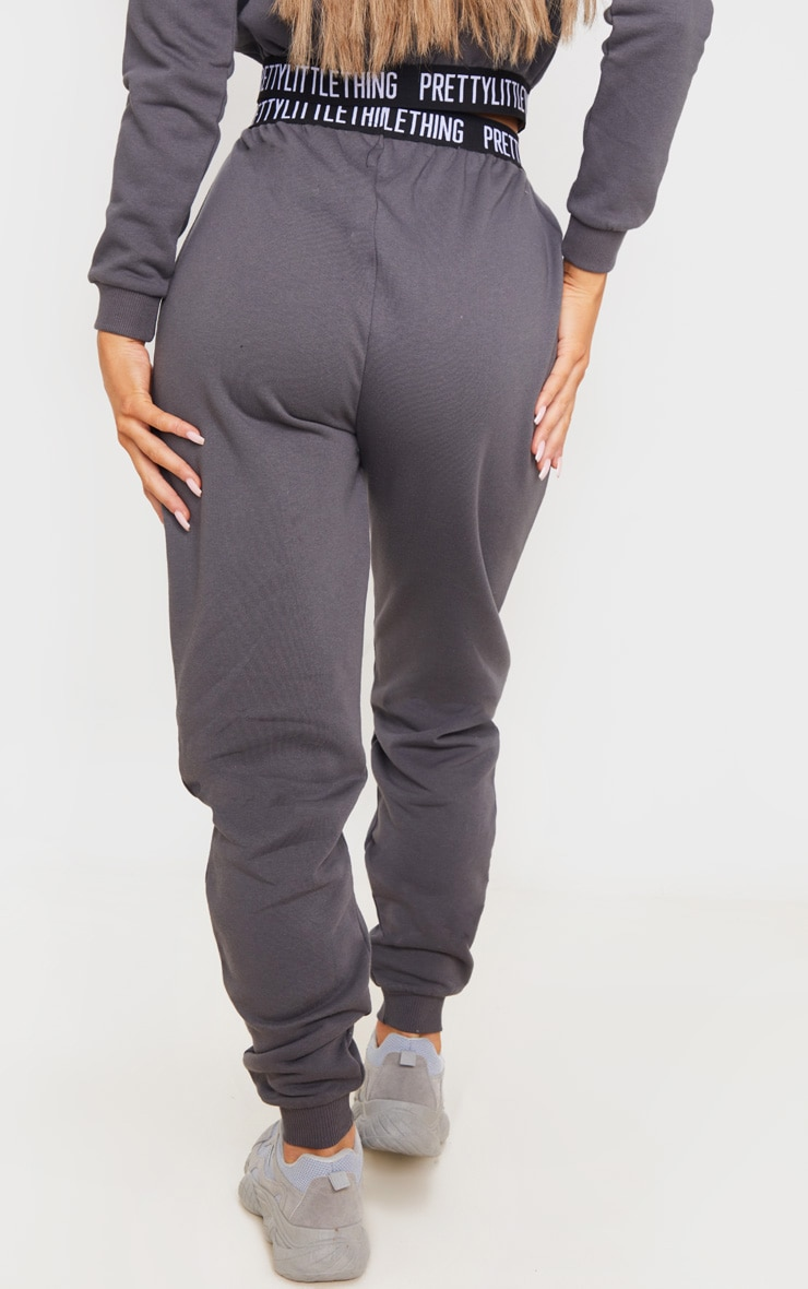 PRETTYLITTLETHING Charcoal Grey Lounge Jogger 4