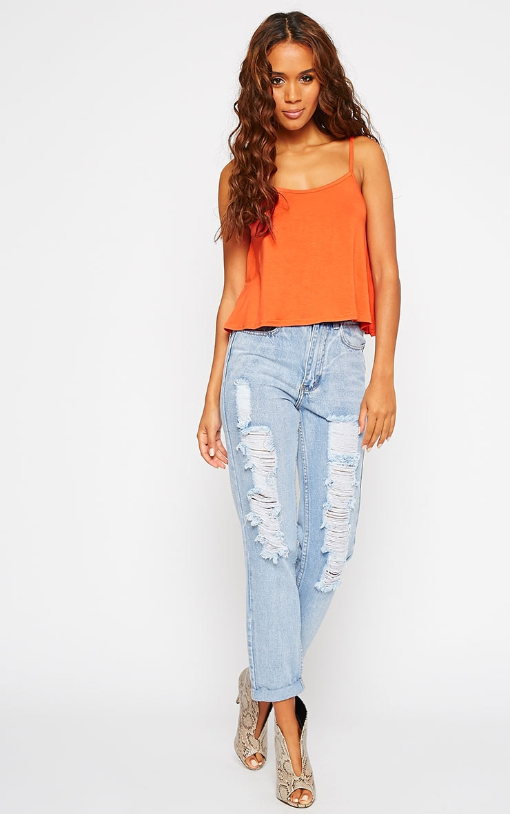 Basic Orange Jersey Swing Cami Top 3