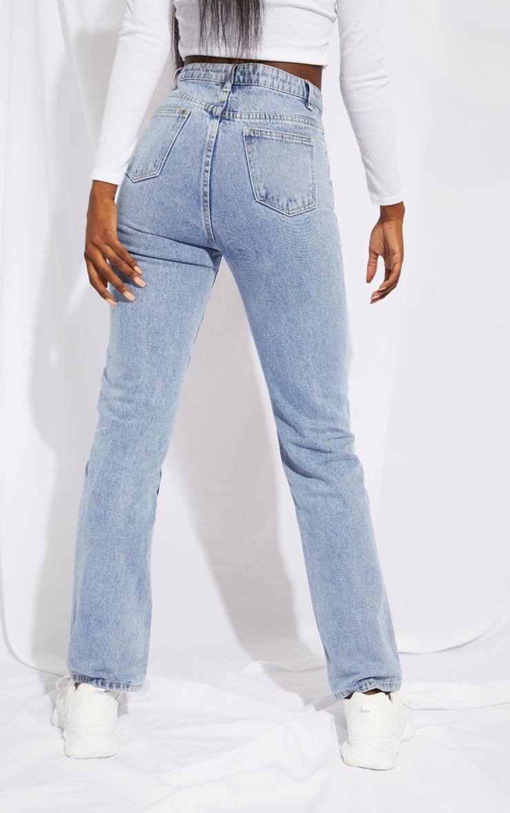 PRETTYLITTLETHING Tall Light Blue Straight Leg Jeans 3
