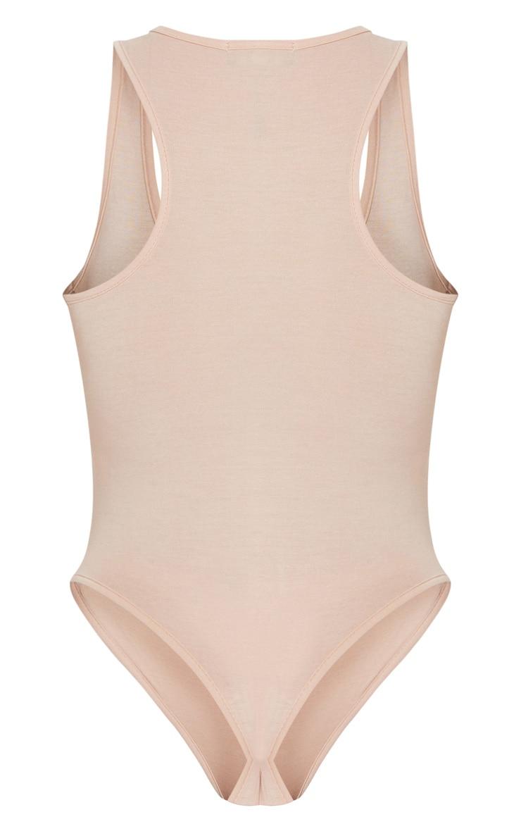 Basic Nude Racer Back Bodysuit 5