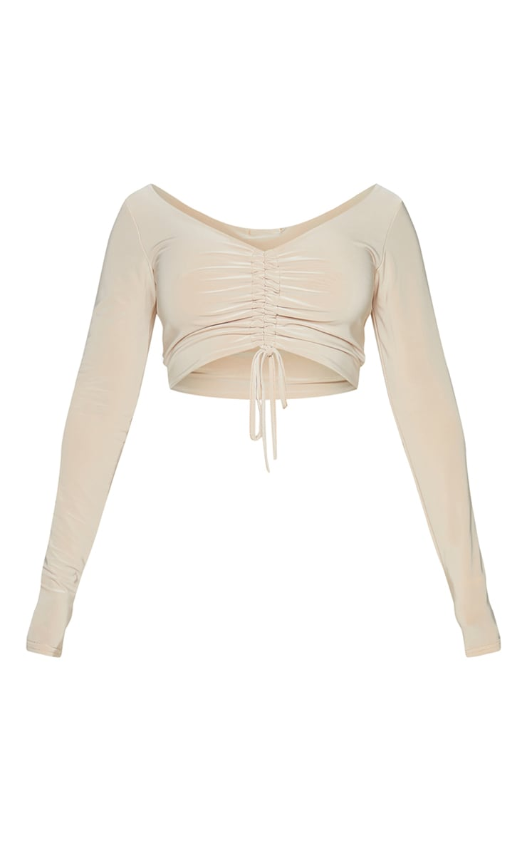 Shape Stone Slinky Ruched Front Crop Top 5