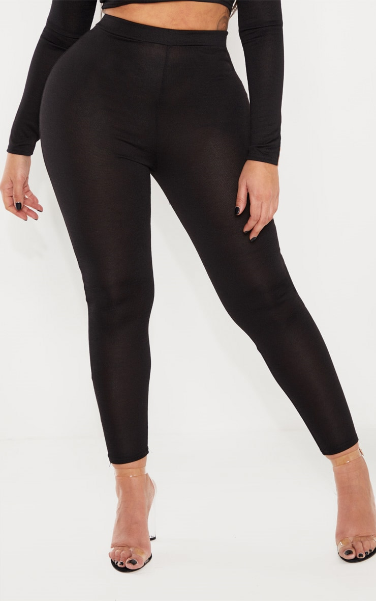 Shape Black Jersey Leggings 2