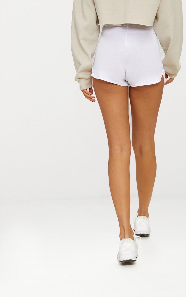 White Basic Runner Short  4