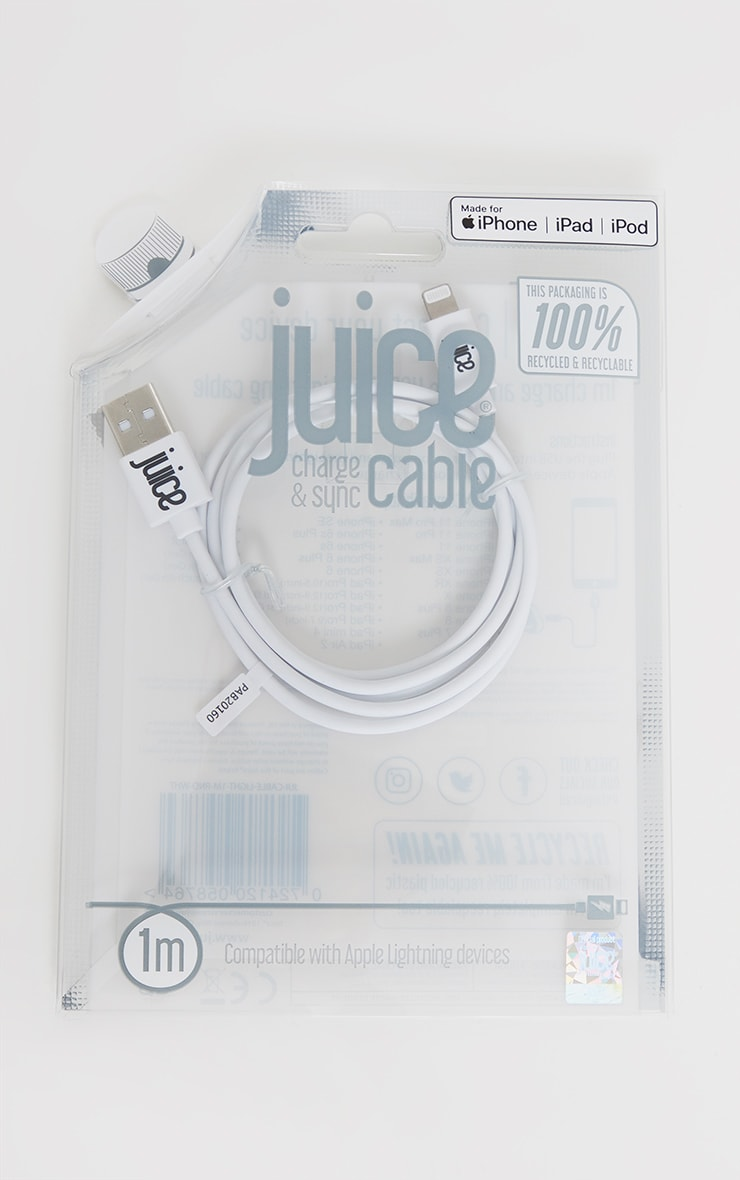 Juice White 1M Phone Charging Cable 1