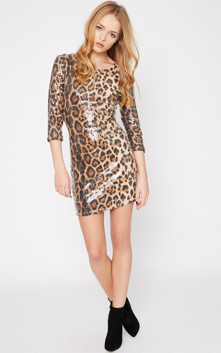 Uani Leopard Sequin Bodycon Dress 3