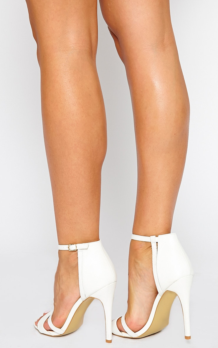 Cassia White Strap Heeled Sandals 3