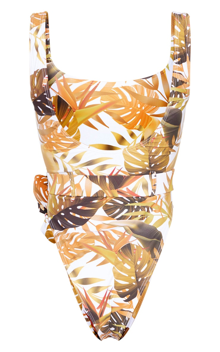 Mustard Leaf Utility Belt Swimsuit 6
