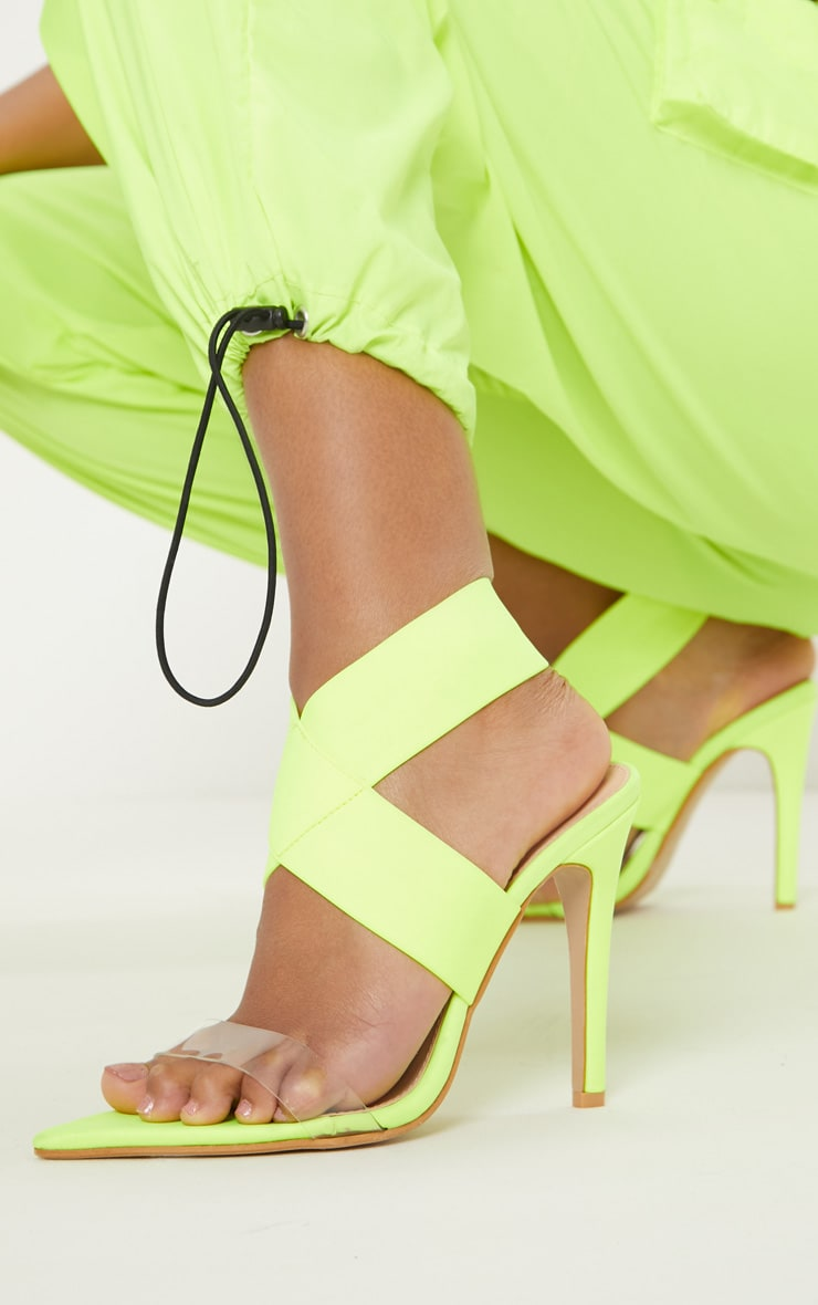 Lime Point Toe Lycra Slingback Sandal 1