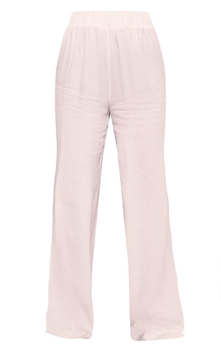 White Woven Elasticated Waist Wide Leg Pants 5