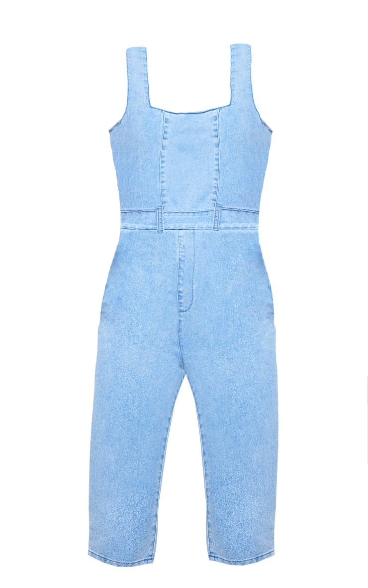 Light Blue Wash Bodycon Jumpsuit 5