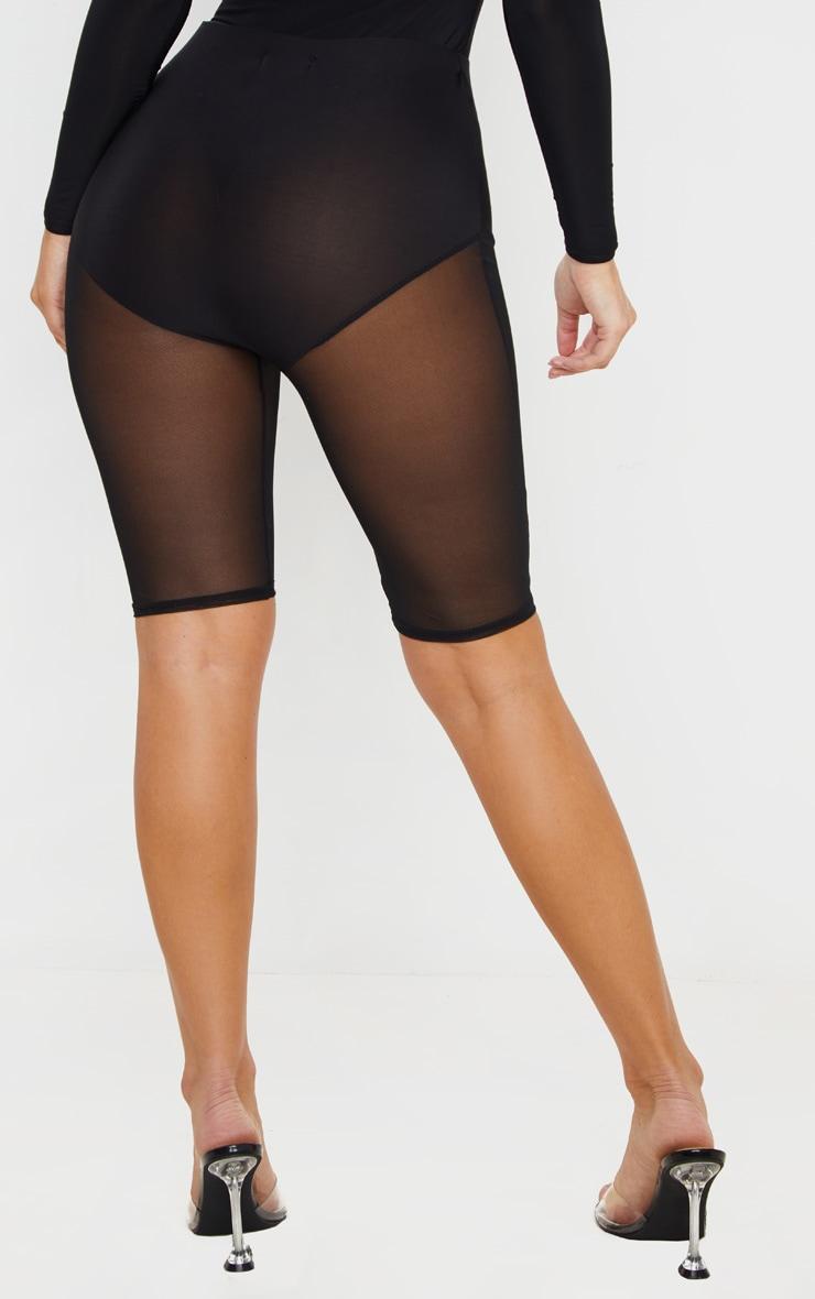 Black Mesh Leg Short 4