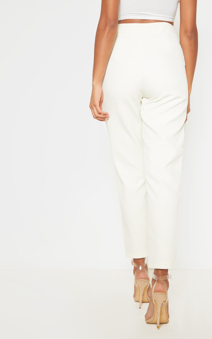 Cream Cropped Pants 4