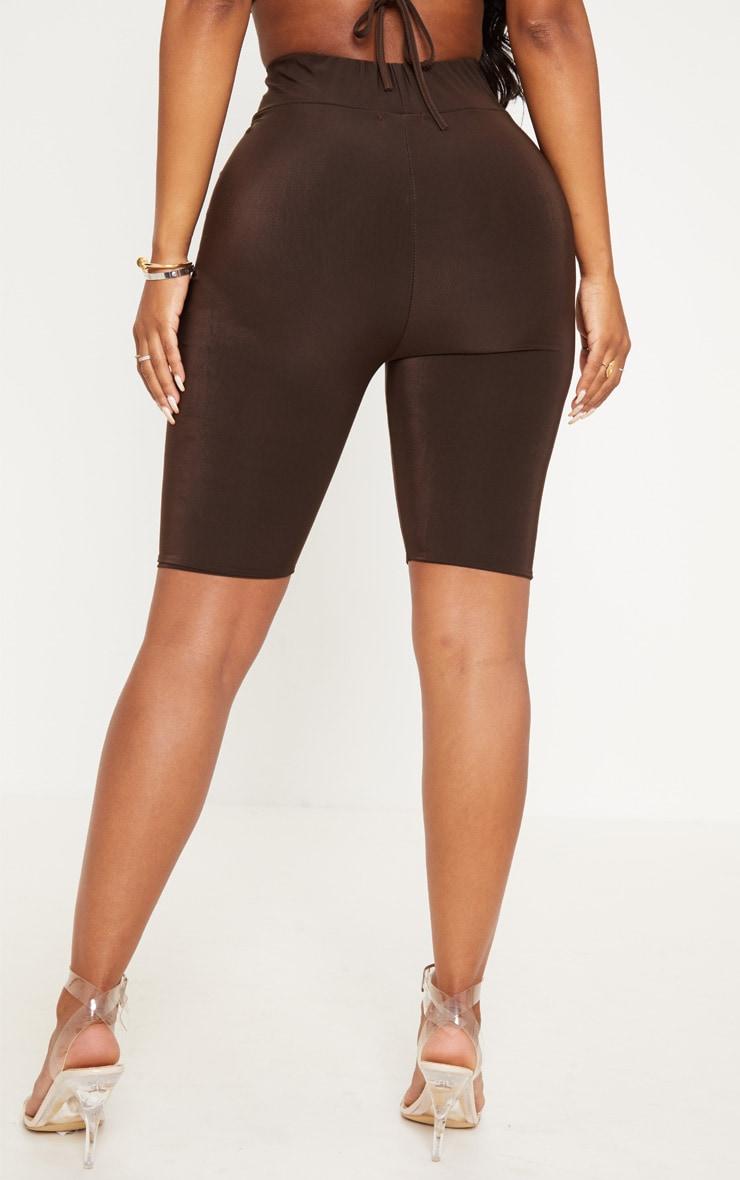 Shape - Short legging moulant marron chocolat 4