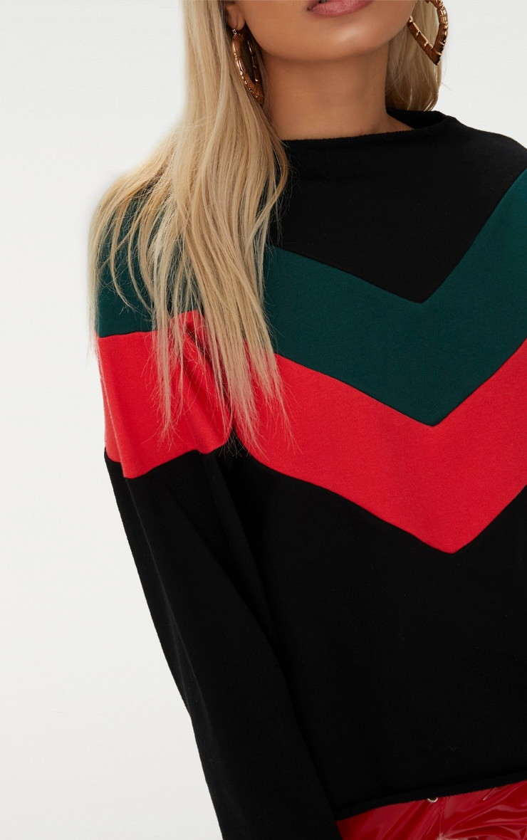 Forest Green Funnel Neck Motorcross Sweater 5