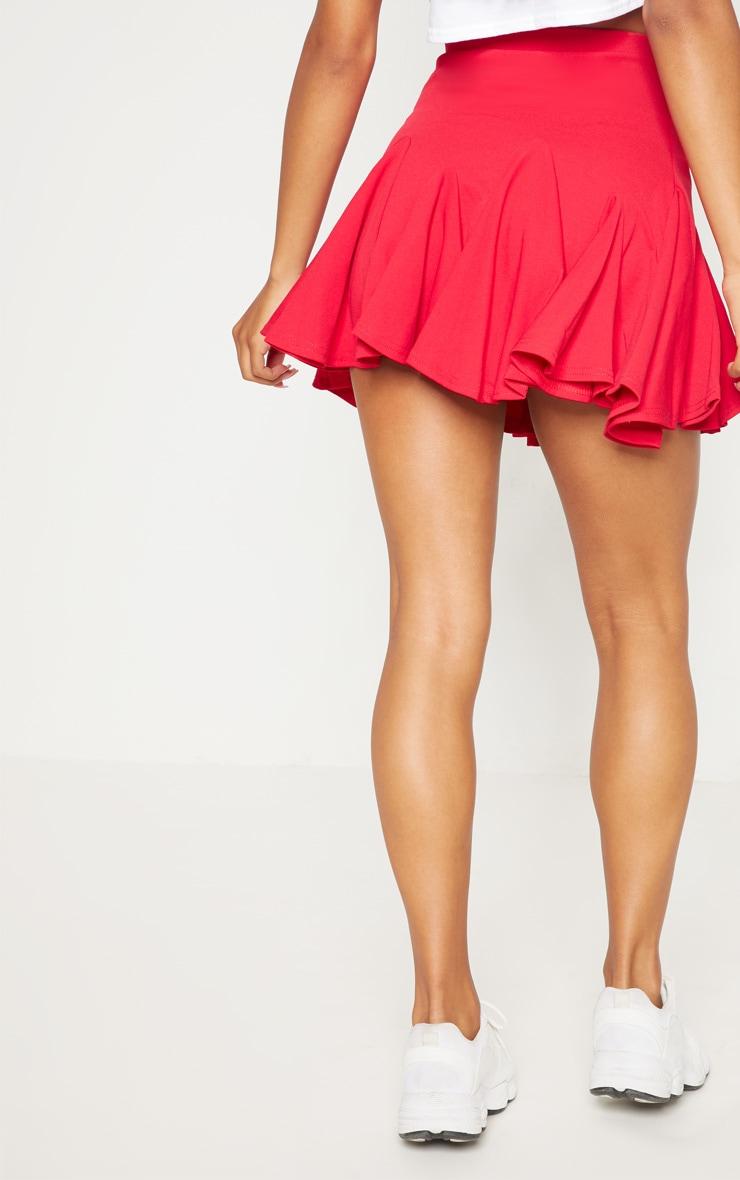 Red Full Hem Mini Skirt 4