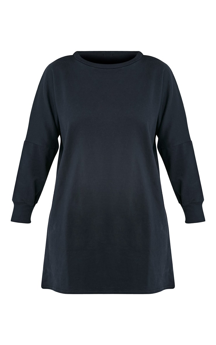 Laine robe pull surdimensionnée noire 3