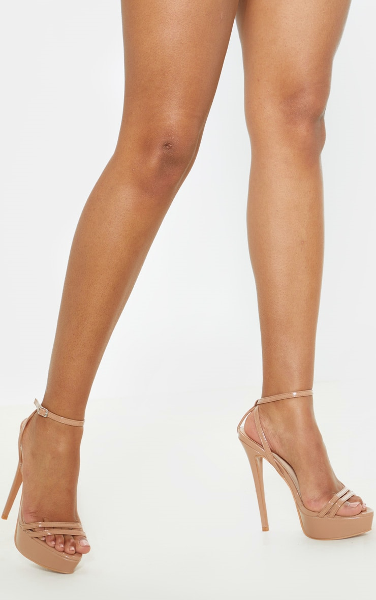 Nude High Platform Sandals 1