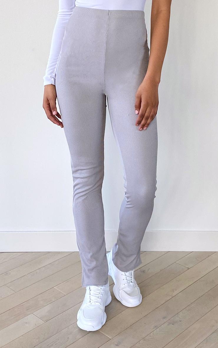 Tall Grey Skinny Split Hem Pants 2