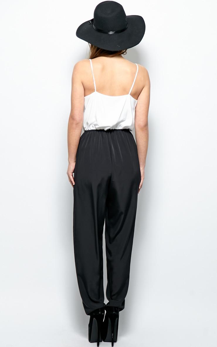 Caitlyn Monochrome Silky Jumpsuit 2