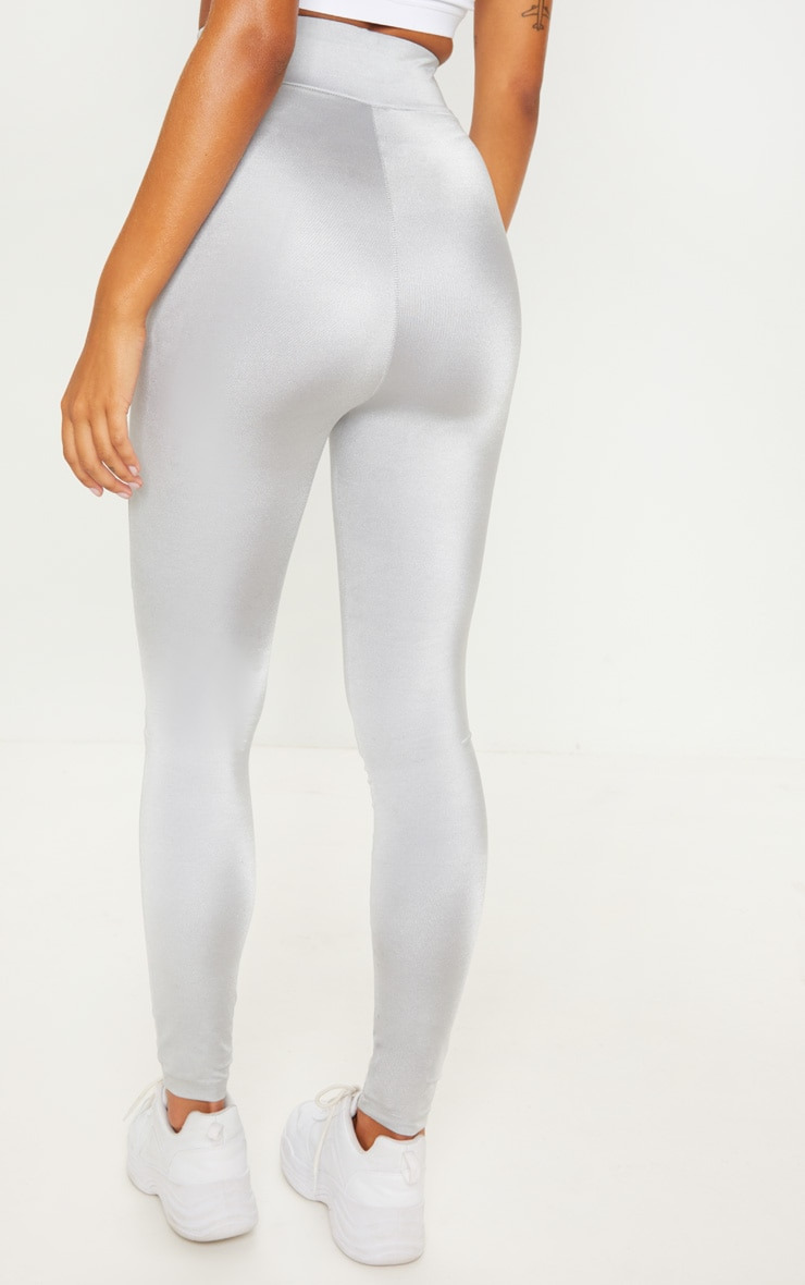 PRETTYLITTLETHING Grey High Waisted Sports Legging 5