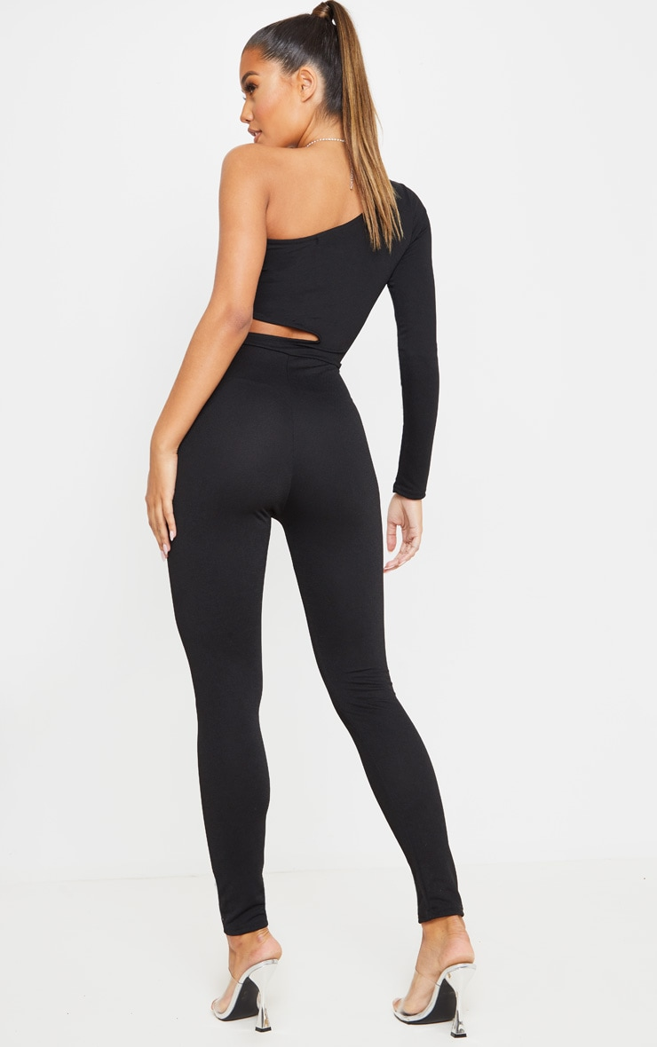 Black Long Sleeve Cut Out Jumpsuit 2