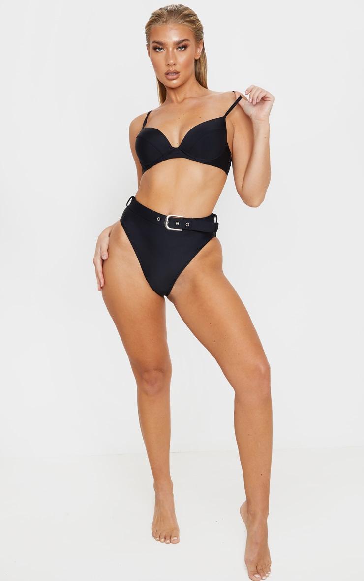 Black Belted High Waist Bikini Bottom 5