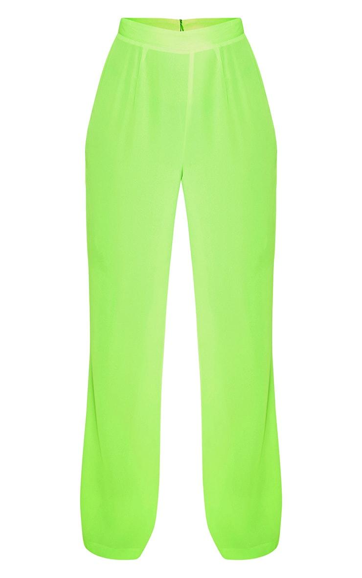 Neon Green Beach Flares 3
