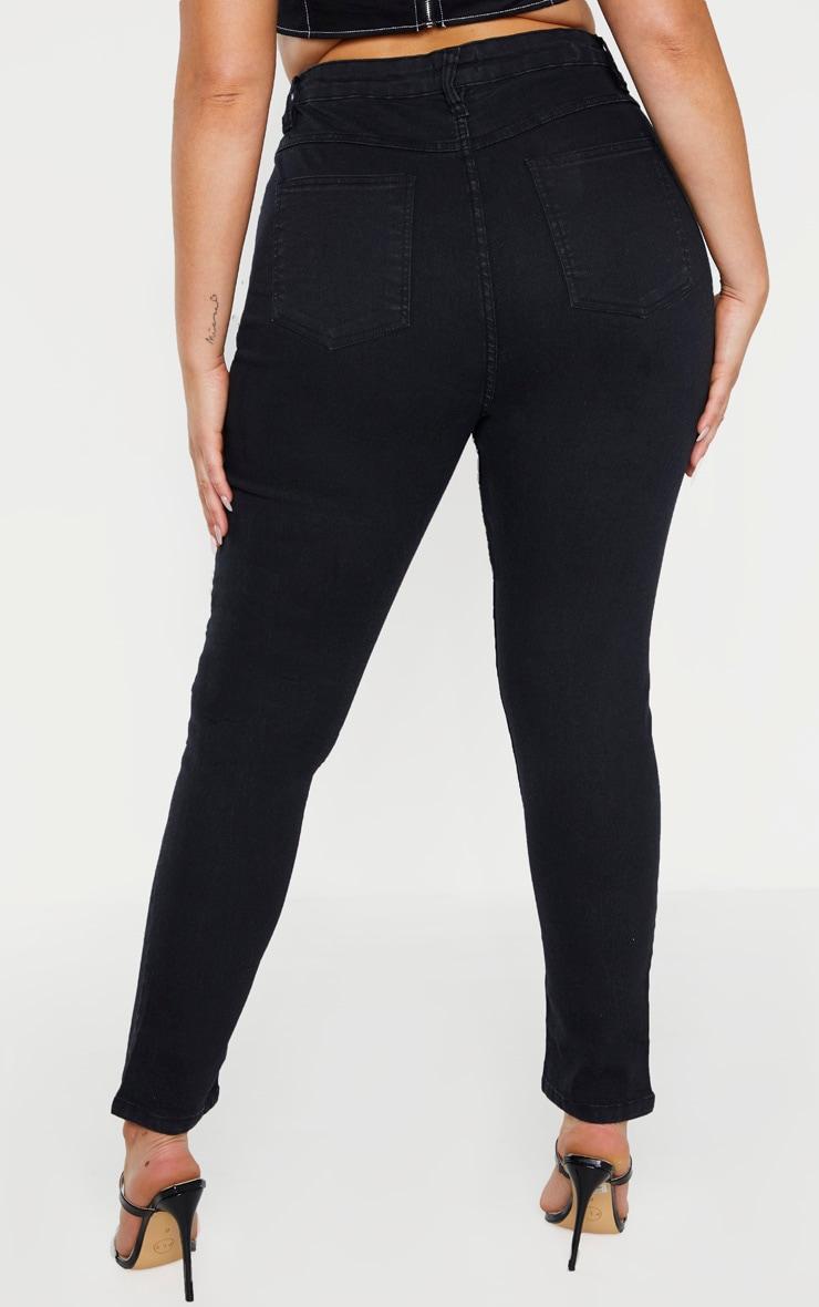 Plus Black High Waisted Skinny Jean 4