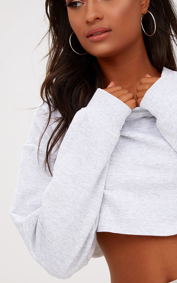 Ash Grey Ultimate Cropped Sweatshirt 5