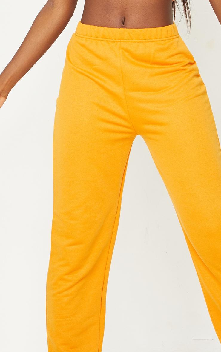 Tall Orange Basic Cuffed Hem Joggers 4