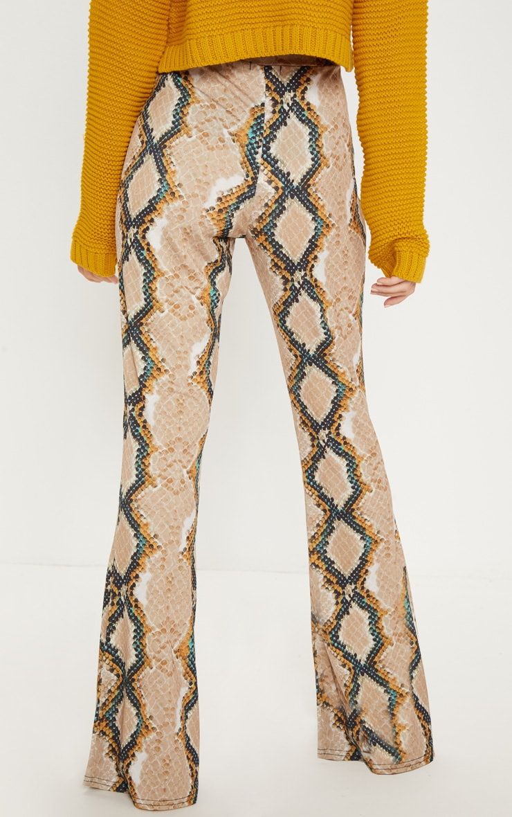 Stone Snake Printed Flared Trouser  3